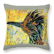 Sunlit Roadrunner Throw Pillow
