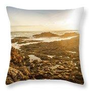 Sunlit Seaside Throw Pillow