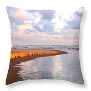 Sunlit Shores Throw Pillow