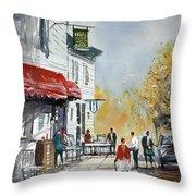 Sunlit Sidewalk - Neshkoro Throw Pillow