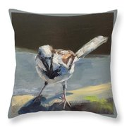 Sunlit Sparrow Throw Pillow