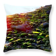 Sunlit Stones Throw Pillow