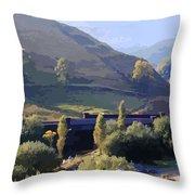 Sunlit Valley  Throw Pillow