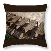 Sunning Chairs Throw Pillow