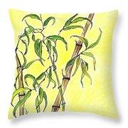 Sunny Bamboo Throw Pillow