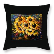 Sunny Bouquet Throw Pillow