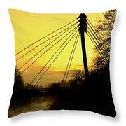 Sunny Bridge Throw Pillow