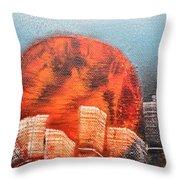 Sunny Buildings Throw Pillow