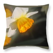 Sunny Daffodil Throw Pillow