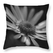 Sunny Daisy Black And White 2 Throw Pillow