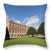 Sunny Day At Hampton Court Palace London Uk Throw Pillow