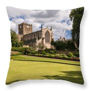 Sunny Day At Hexham Abbey Throw Pillow