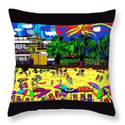 Sunny Day At The Beach Throw Pillow