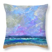 Sunny Day At The Sea Throw Pillow