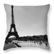 Sunny Day In Paris Throw Pillow