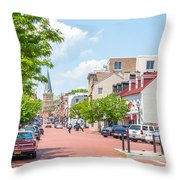 Sunny Day On Main Throw Pillow