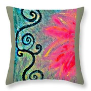 Sunny Day Pink Throw Pillow