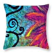 Sunny Day Purple Throw Pillow