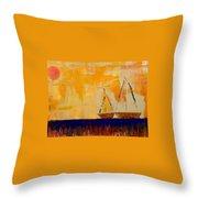 Sunny Day Sail Throw Pillow