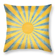 Sunny Day Throw Pillow by Setsiri Silapasuwanchai
