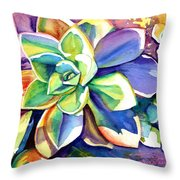 Sunny Day Succulent Throw Pillow