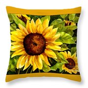 Sunny Floral Throw Pillow