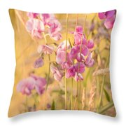 Sunny Garden 3 Throw Pillow