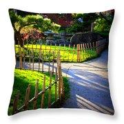 Sunny Garden Path Throw Pillow