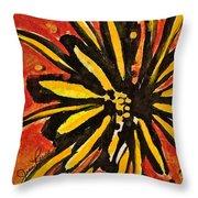 Sunny Hues Watercolor Throw Pillow