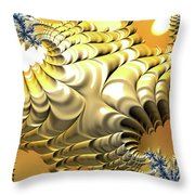 Sunny Island Throw Pillow