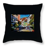 Sunny Meersburg - Germany Throw Pillow