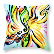 Sunny Morning. Abstract Vision Throw Pillow