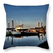 Sunny Morning At Onset Pier Throw Pillow