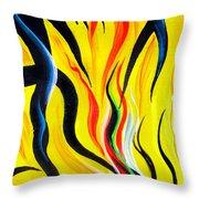 Sunny Morning, Energy. Abstract Art Throw Pillow