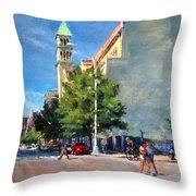 Summer Morning Near St. Michael's Church, Amsterdam Ave. Throw Pillow