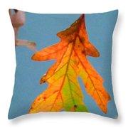 Sunny Oak Leaf Throw Pillow