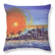 Sunny  Palms Throw Pillow
