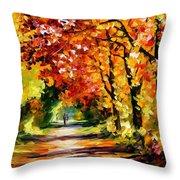 Sunny Path Throw Pillow