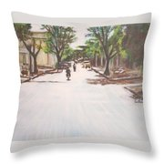 Sunny Road Throw Pillow
