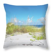 Sunny Sanibel Throw Pillow