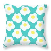Sunny Side Up Eggs- Art By Linda Woods Throw Pillow
