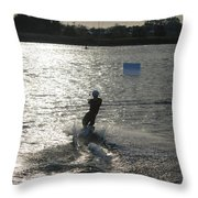 Sunny Ski Throw Pillow