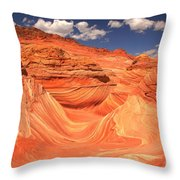 Sunny Skies At The Wave Throw Pillow