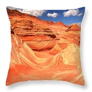 Sunny Skies Over The Wave Throw Pillow