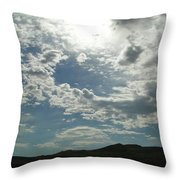 Sunny Sky Throw Pillow