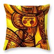 Sunny Warrior Throw Pillow