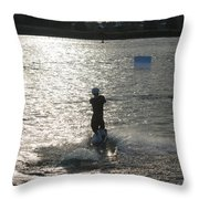 Sunny Waves Throw Pillow