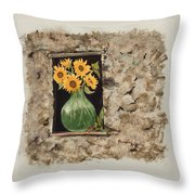 Sunny Window Throw Pillow