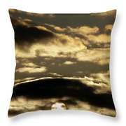 Sunny With Chance Of Clouds Throw Pillow