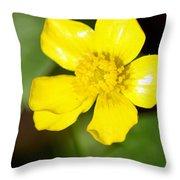 Sunny Yellow Cinquefoil Throw Pillow